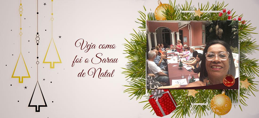 Veja como foi o Sarau de Natal realizado no último dia 02 de dezembro