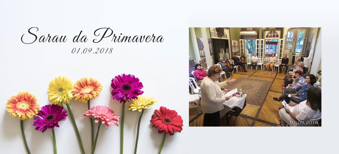 Veja como foi o Sarau da Primavera realizado no Instituto Histórico de São Vicente